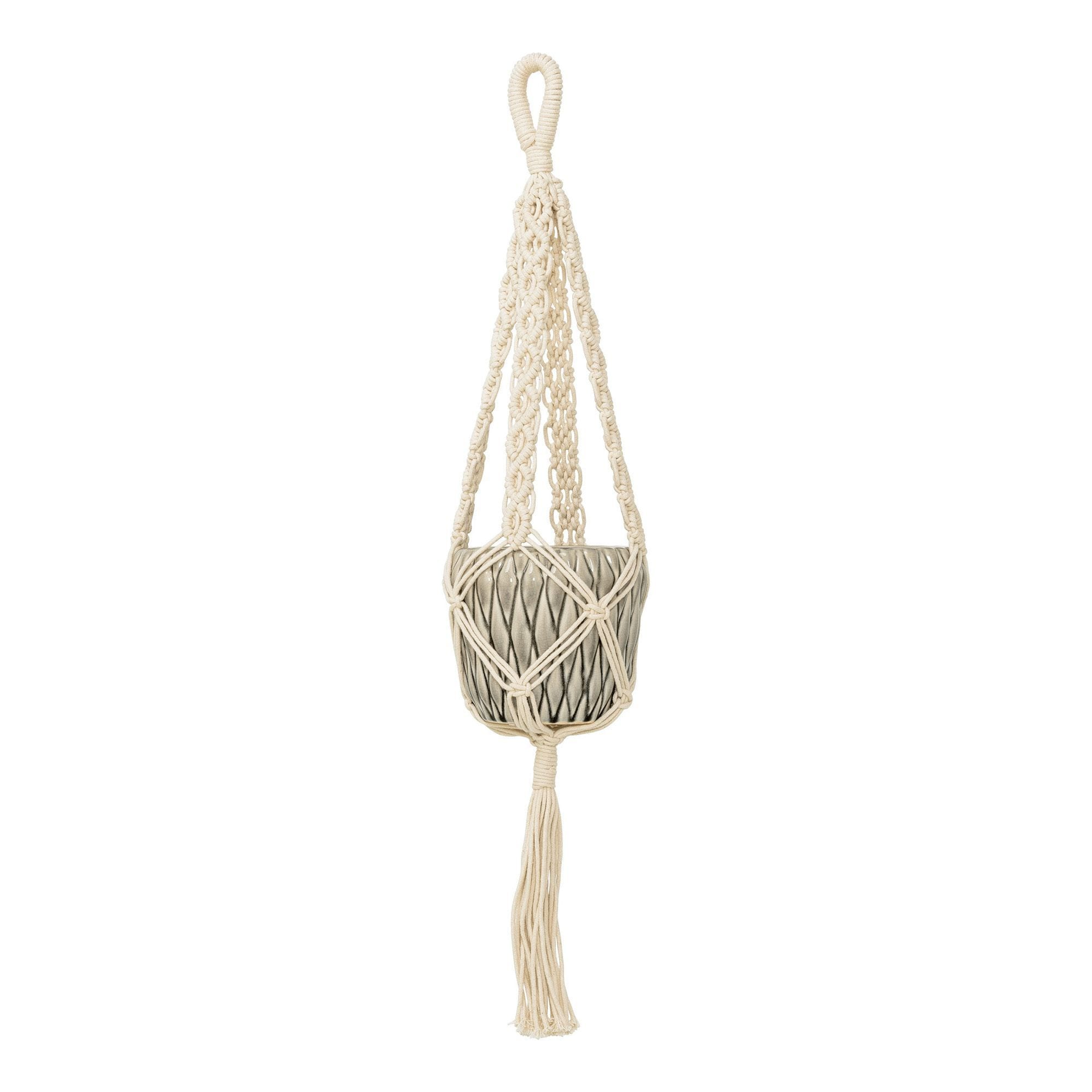 Suspension en macramé