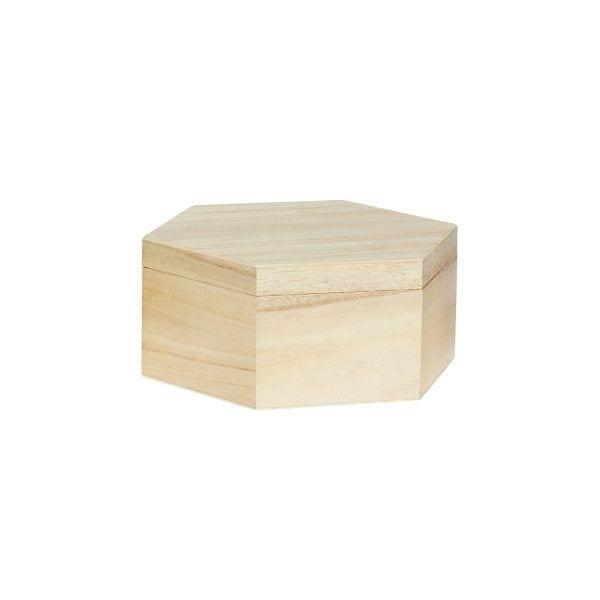 Boîte hexagonale - M - Hübsch - Songes - 130205-b