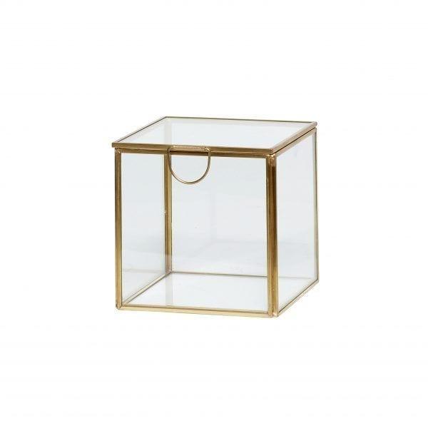 Boîte en verre - M - Hübsch - Songes - 150201-b