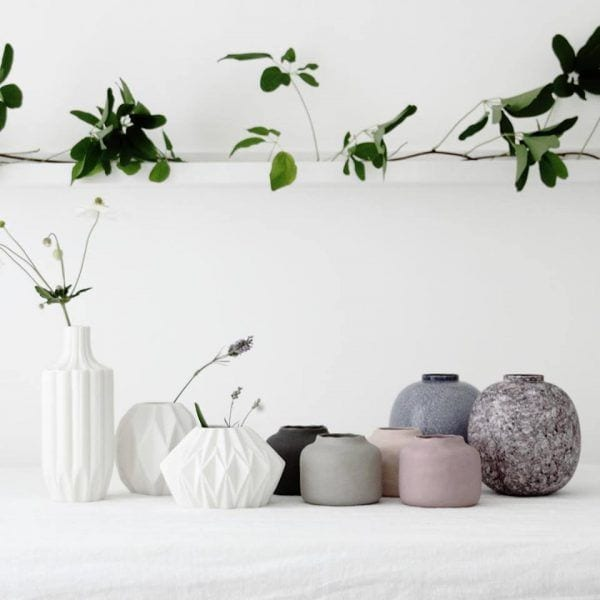 Vase géométrique - Blanc - Hübsch - Songes - 15965903_1338717029484557_5865373156673334578_n