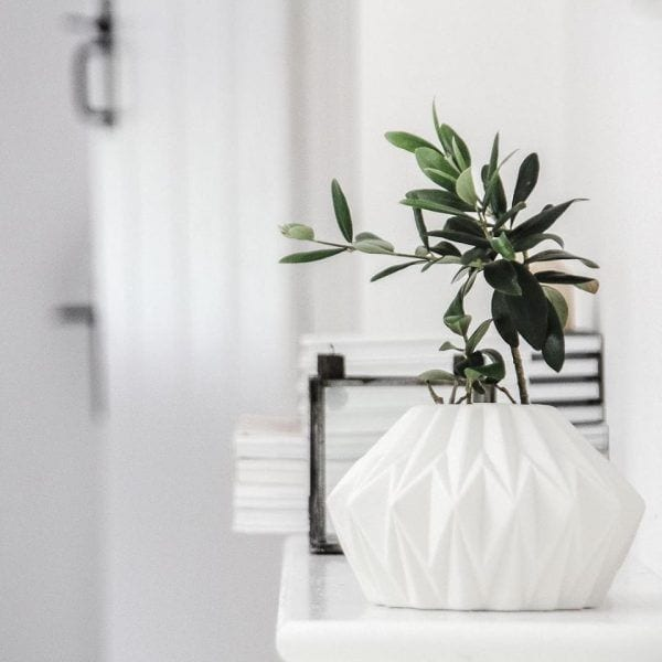 Vase géométrique - Blanc - Hübsch - Songes - 15977087_1338717032817890_1020582052386583399_n