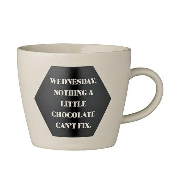 Weekday mug - Wednesday - Bloomingville - Songes - 21100348_c
