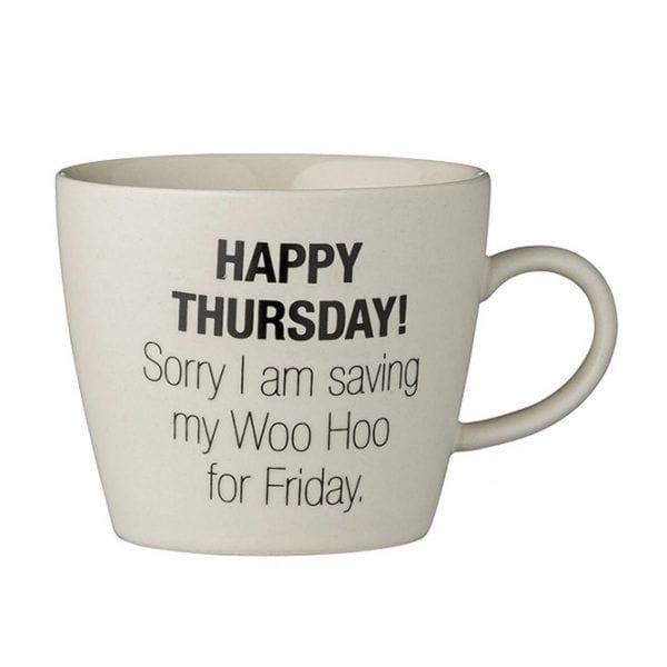 Weekday mug - Thursday - Bloomingville - Songes - 21100348_d