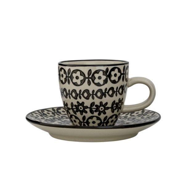 Tasse à café Julie - Noir - Bloomingville - Songes - 21102554