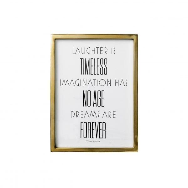 Tableau doré - Laughter - Bloomingville - Songes - 22200017