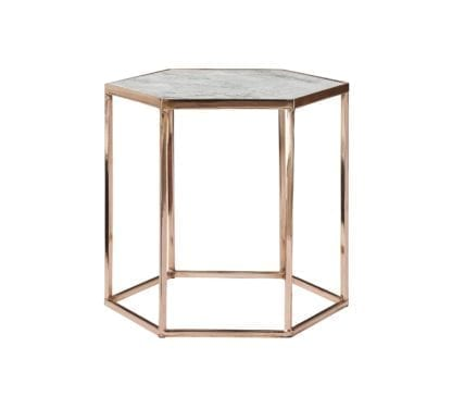 Table basse hexagonale