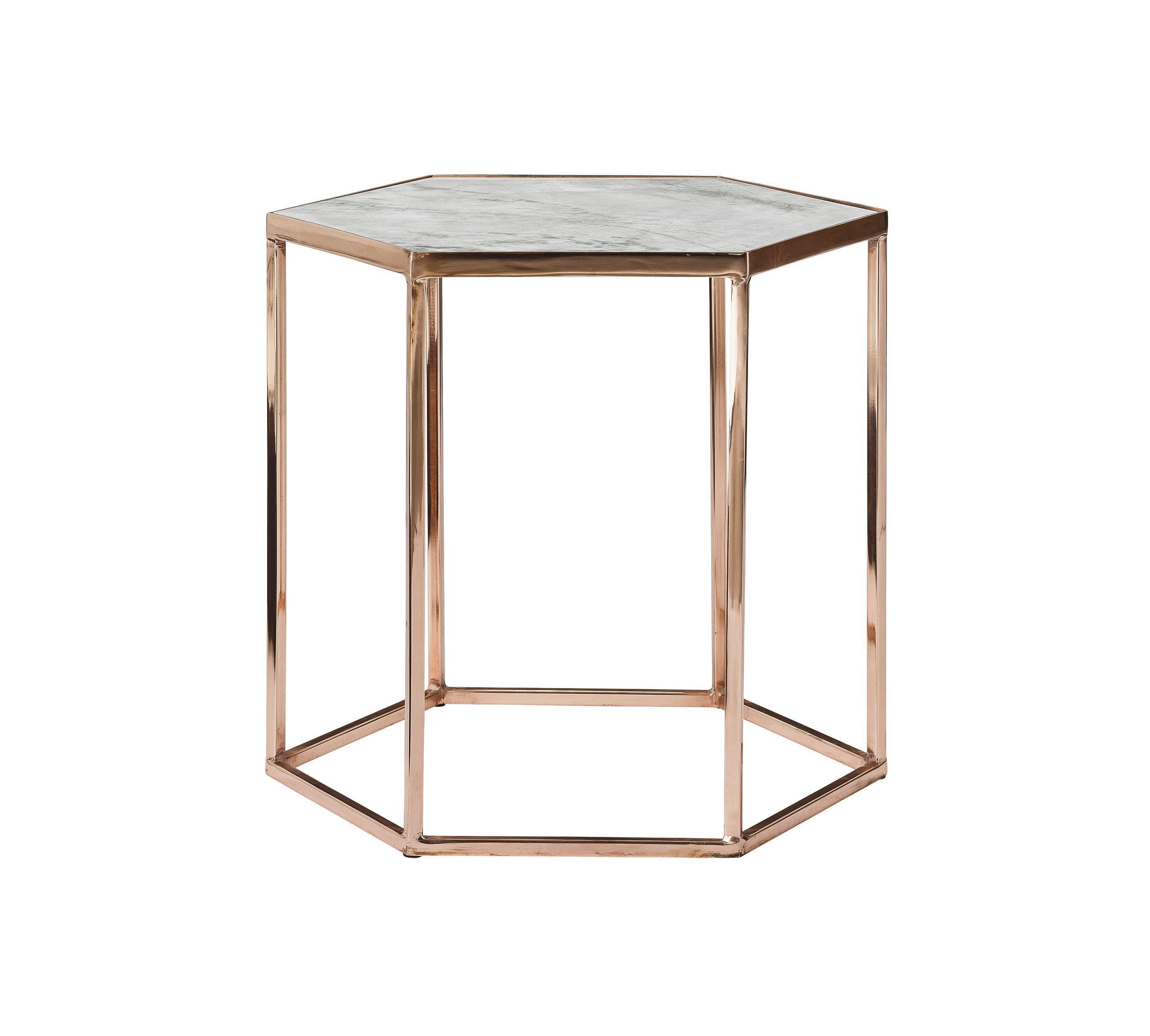 Table basse hexagonale