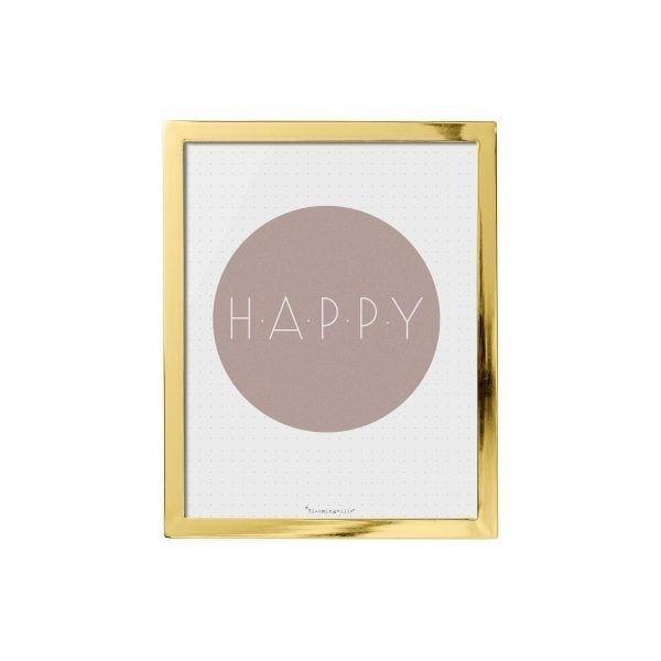 Tableau doré - Happy - Bloomingville - Songes - 27400140