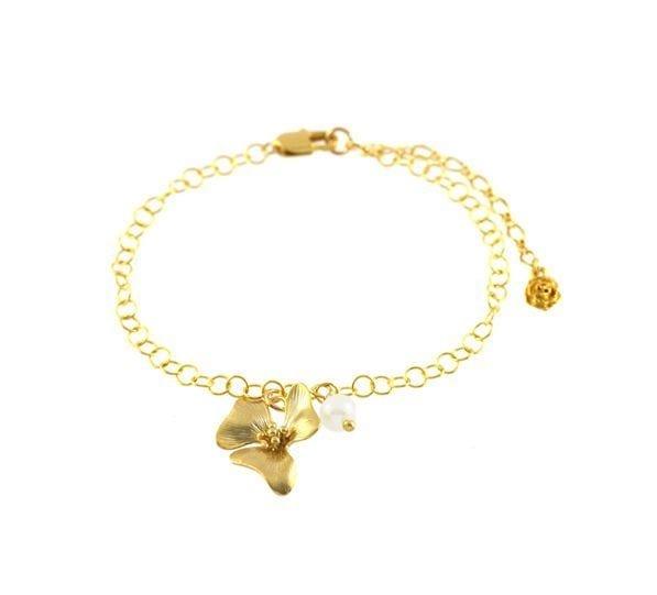 Bracelet fleur et perle