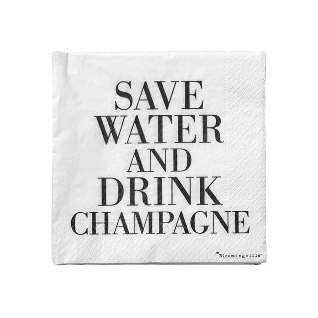 Serviettes en papier - Champagne