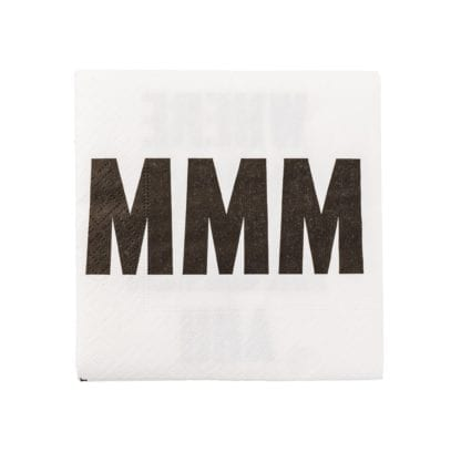 Serviettes en papier - Mmm Ahh