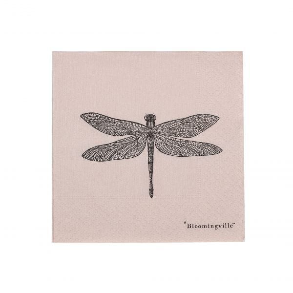 Serviettes - Libellule - Bloomingville - Songes - 31007514_high