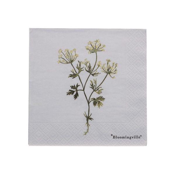 Serviettes - Fleurs - Bloomingville - Songes - 31007515_high