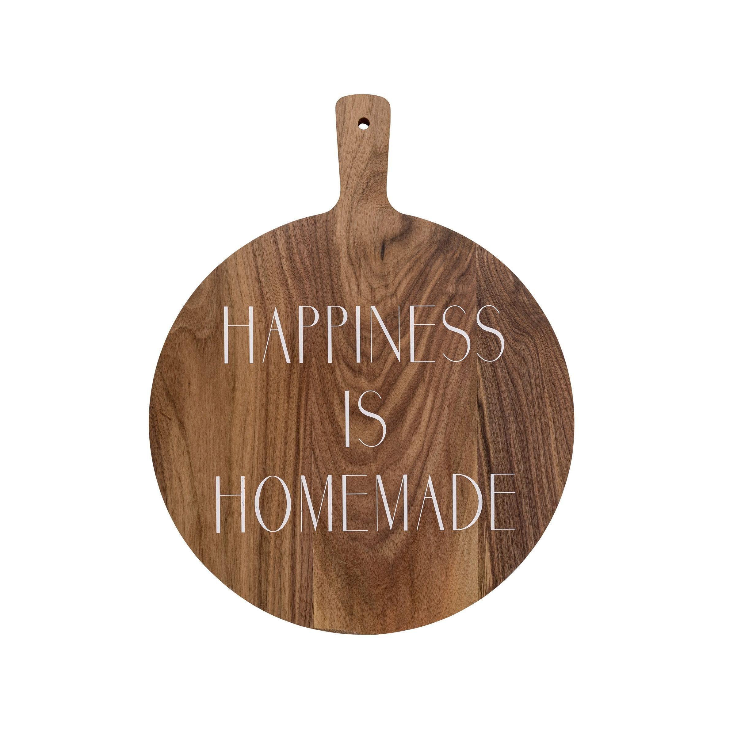 Planche en bois - Happiness
