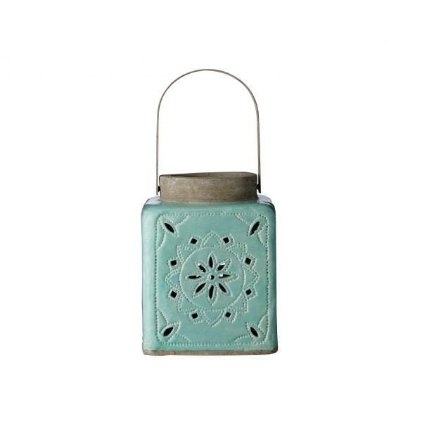Lanterne céramique - Vert - Bloomingville - Songes - 459000