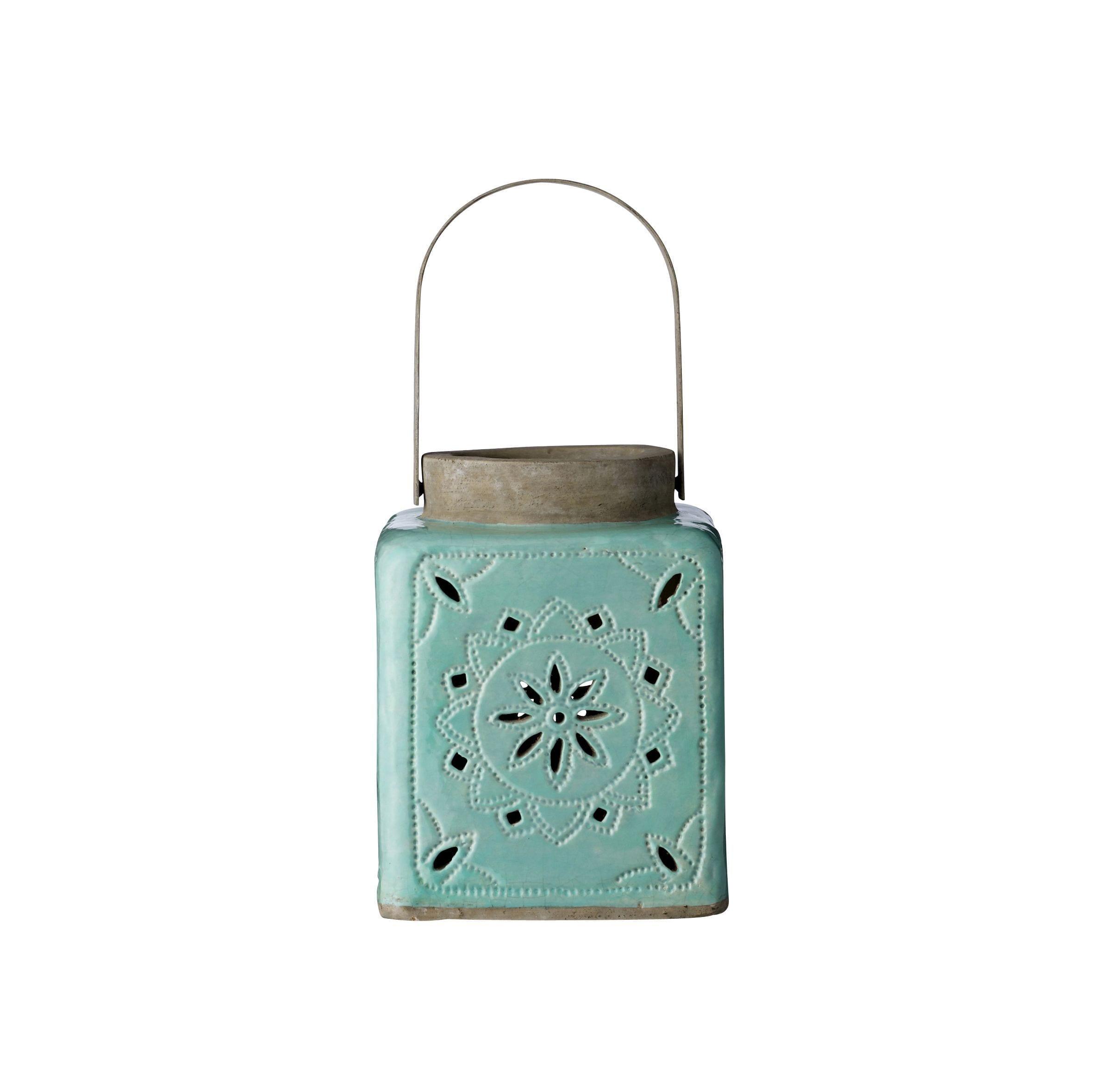 Lanterne céramique - Vert