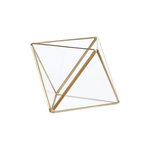 Terrarium en verre - Laiton - Hübsch - Songes - 460303