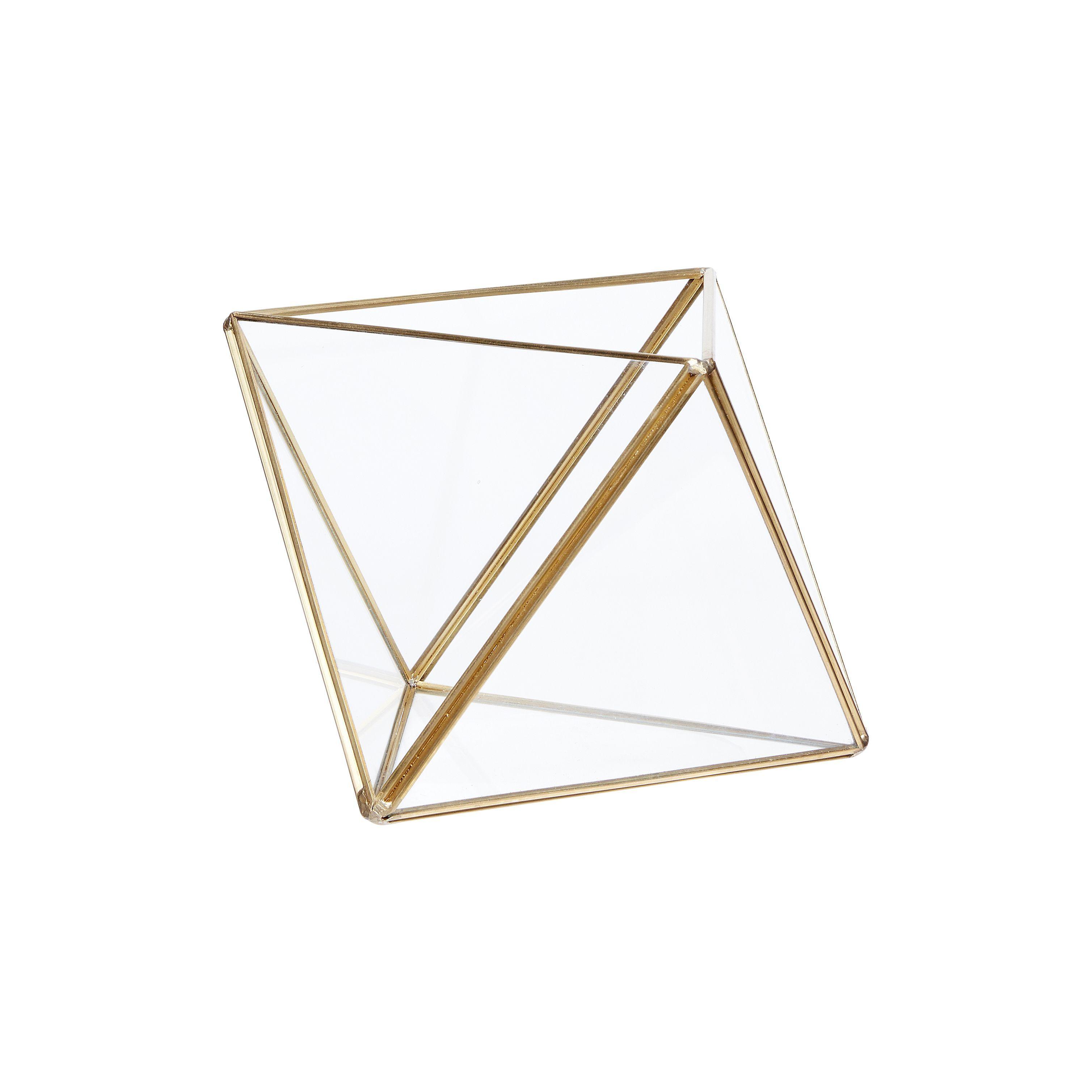 Terrarium en verre - Laiton