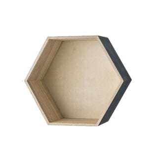Étagère hexagonale gris - L