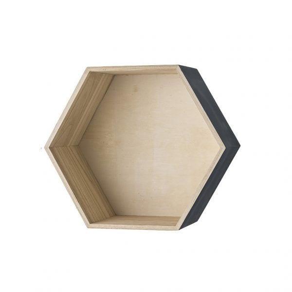Étagère hexagonale gris - L - Bloomingville - Songes - 50200086-a