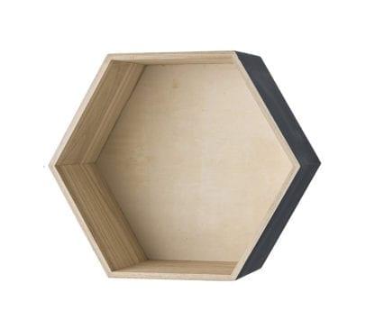 Étagère murale hexagonale - Gris