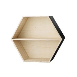 Étagère hexagonale - Noire