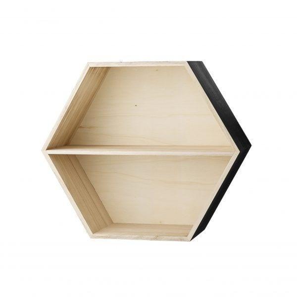 Étagère hexagonale - Noire - Bloomingville - Songes - 50200108