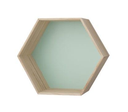 Étagère murale hexagonale - Vert