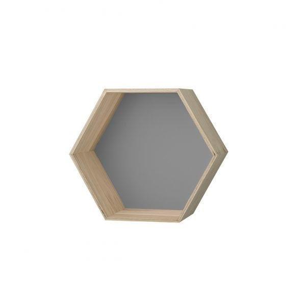 Étagère hexagonale gris - M - Bloomingville - Songes - 50200153-b