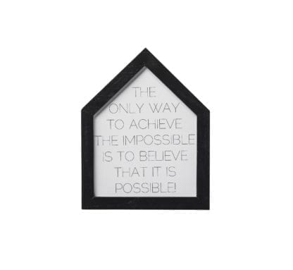 Tableau - Maison noir