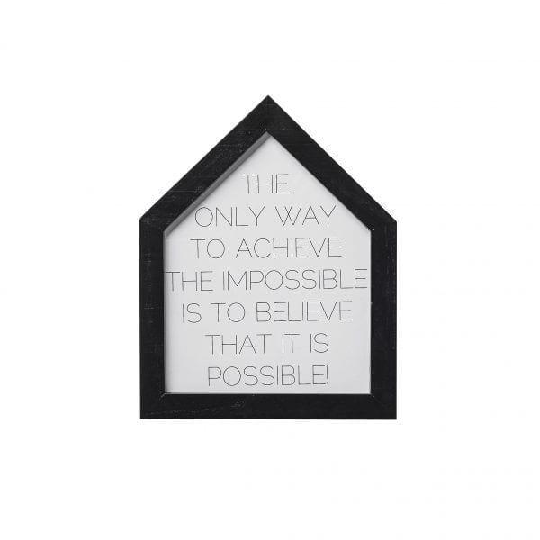 Tableau - Maison noir - Bloomingville - Songes - 50500021