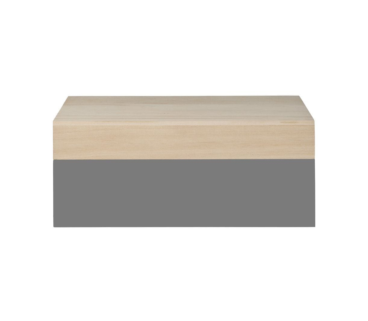 Boîte en bois M - Gris