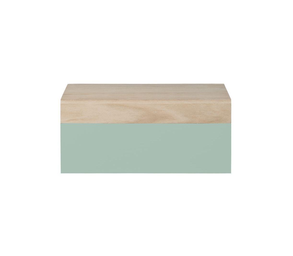 Boîte en bois S - Vert