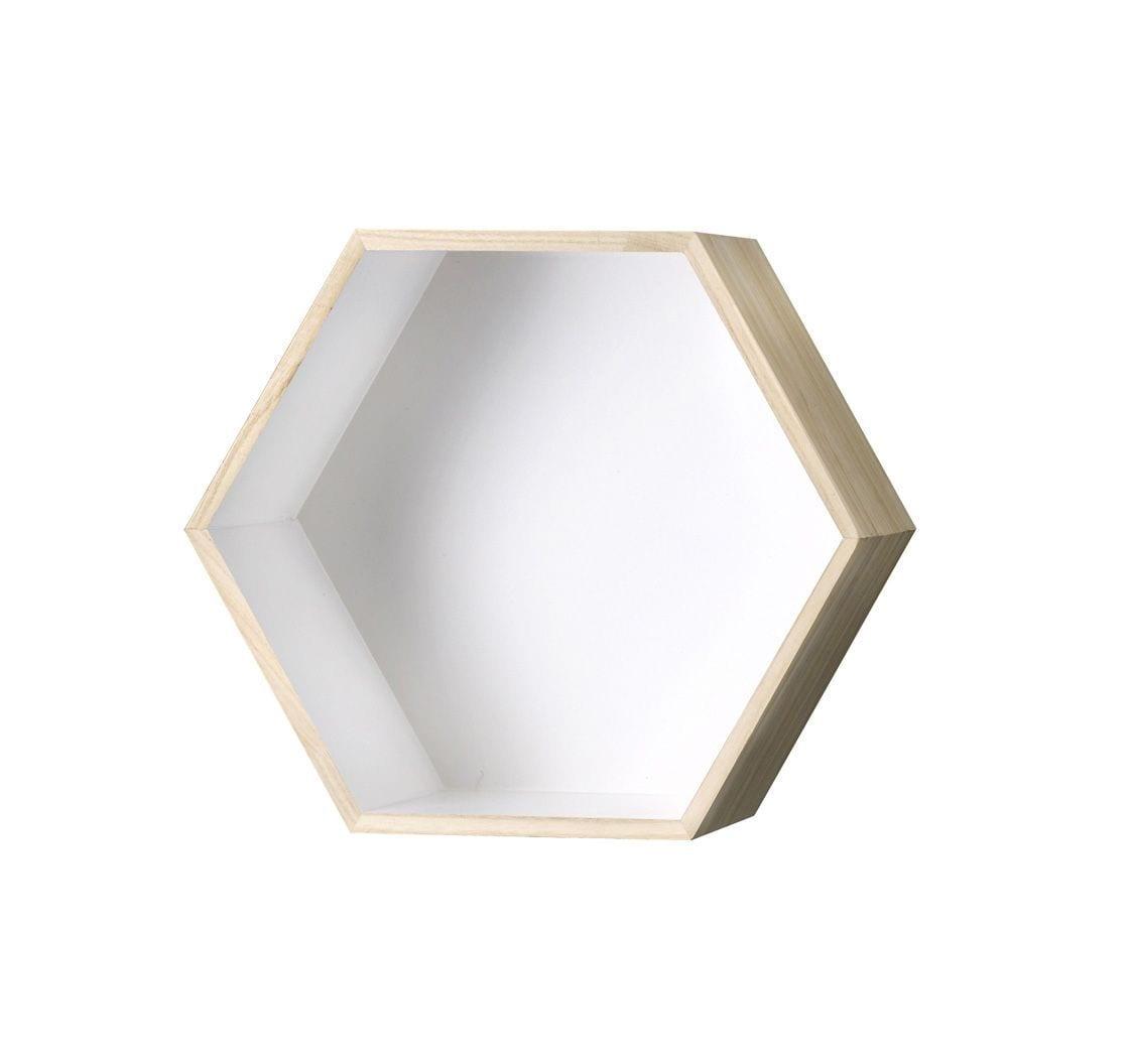 Étagère hexagonale blanc - L