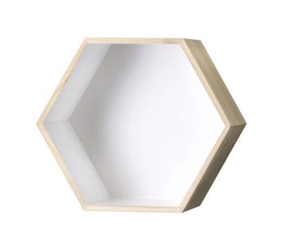 Étagère murale hexagonale - Blanc