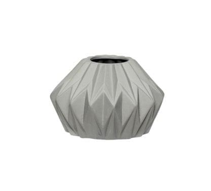 Vase géométrique - Gris