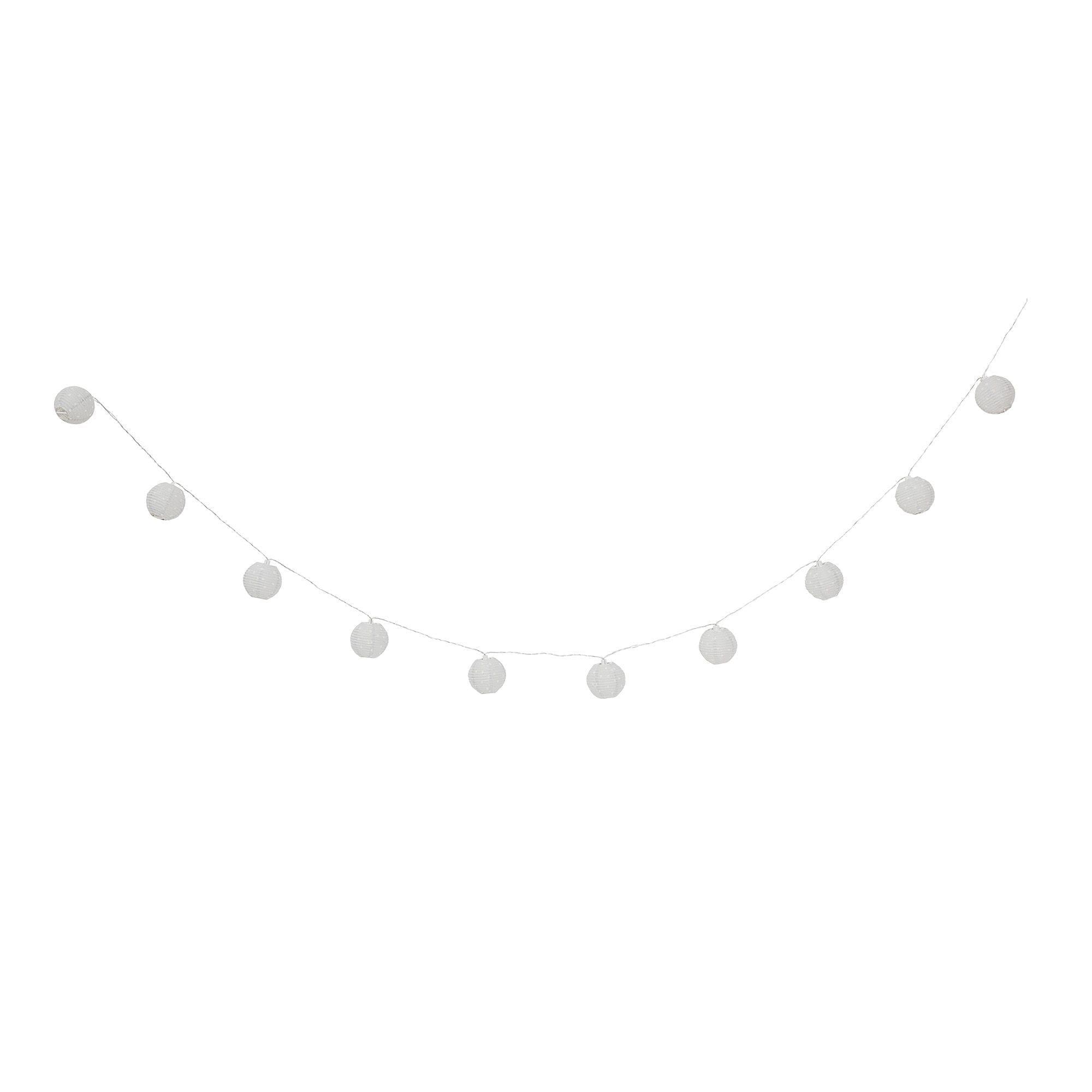 Guirlande lumineuse - Pois gris
