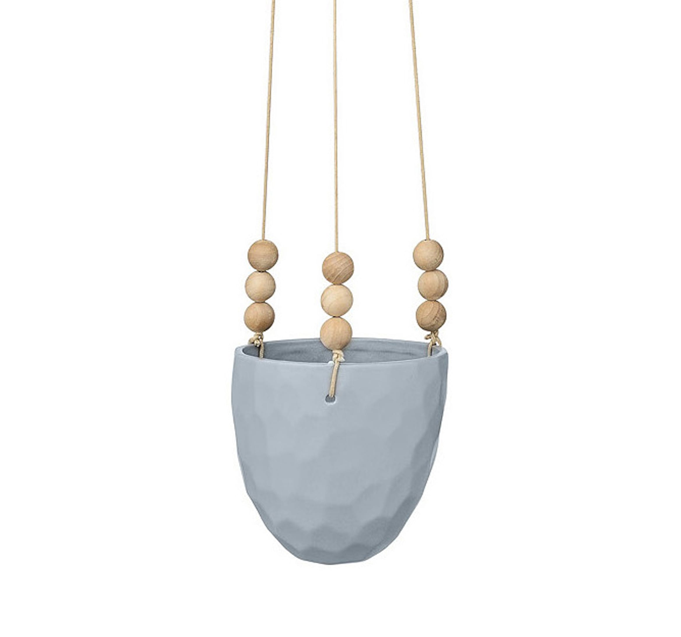 cache pot suspendre bleu vases pots songes. Black Bedroom Furniture Sets. Home Design Ideas