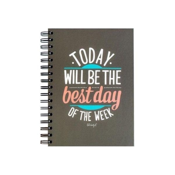 Cahier - Best day of the week - Mr. Wonderful - Songes - 8436547183333
