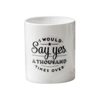 Mug say yes
