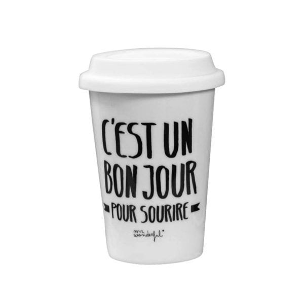 Mug à emporter - Bon jour - Mr. Wonderful - Songes - 8436547187430
