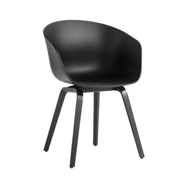 Chaise AAC 22 - Black - Hay - Songes - AAC22 Oak Black Stained Base black