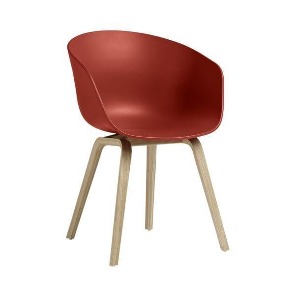 Chaise AAC 22 - Warm red - Hay - Songes - AAC22 Oak Soaped Base warm red