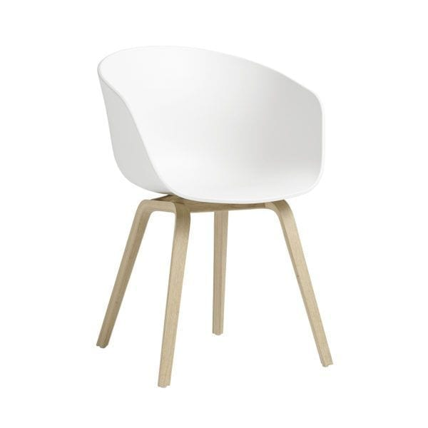 Chaise AAC 22 - White - Hay - Songes - AAC22 Oak Soaped Base white