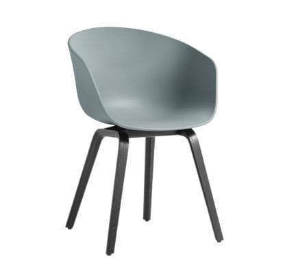 Chaise AAC 22 - Dusty blue (noir)