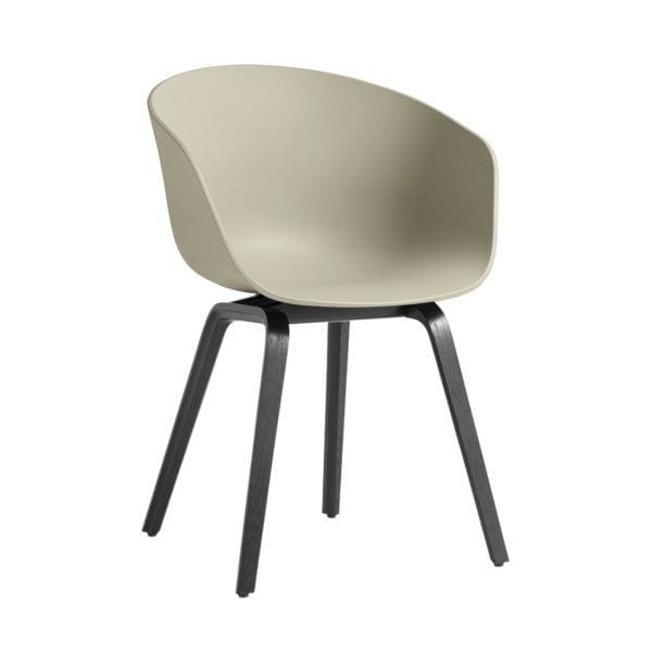 Chaise AAC 22 - Pastel green - Hay - Songes - AAC22 Stained black Base pastel green