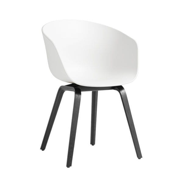Chaise AAC 22 - White - Hay - Songes - AAC22 Stained black Base white