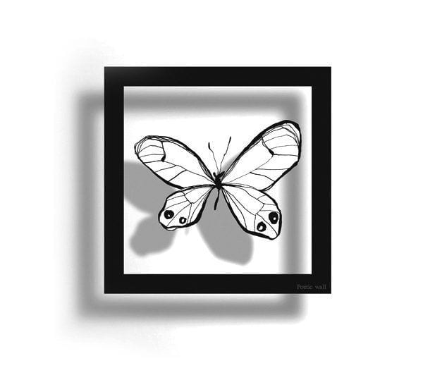 Sticker cadre - Papillon - Poetic Wall - Songes - CPAPILLON