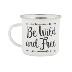 Mug émaillé - Wild and free