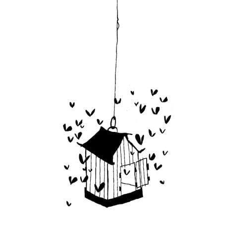 Sticker la cage aux coeurs